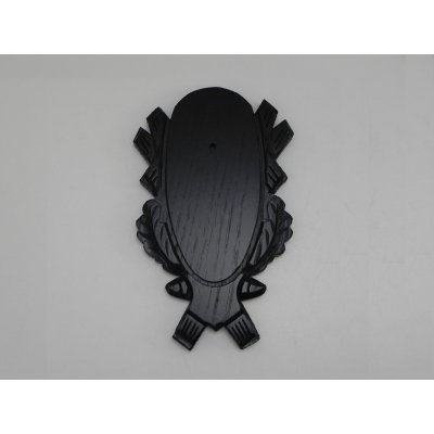 5 Stück geschnitzte Rehbock Trophäenschilder dunkel Gehörnbrettchen Pack Set NEU