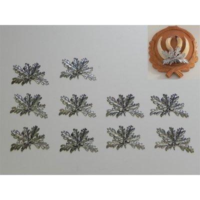 10 Eichenlaub Deckblätter Keilerwaffen//Trophäenschilder